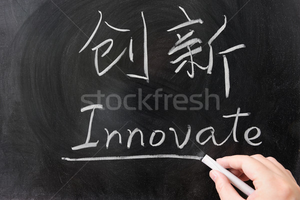 Innovate word in Chinese and English Stock photo © raywoo