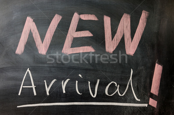 New arrival words Stock photo © raywoo
