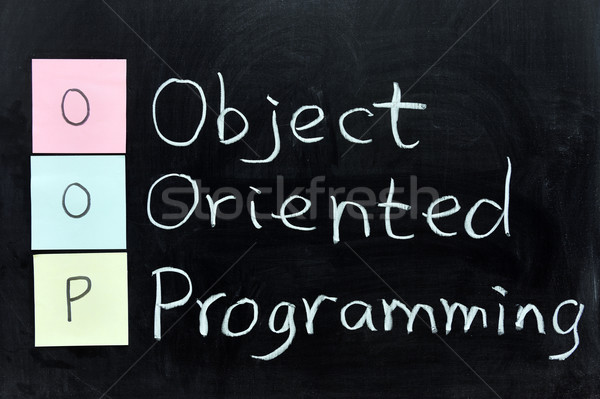 OOP, Object Oriented Programming Stock photo © raywoo