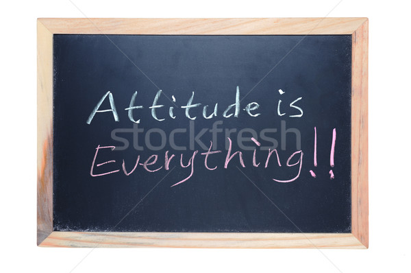 Attitude is everything Stock photo © raywoo