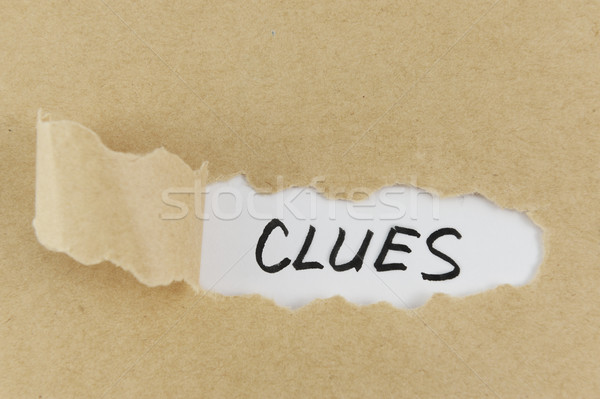 Clues word Stock photo © raywoo