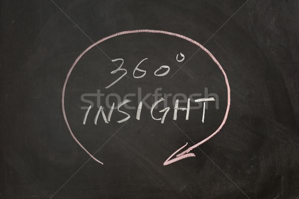 Inzicht schoolbord schrijven zwarte boord Stockfoto © raywoo