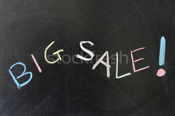 ストックフォト: ビッグ · 販売 · 抽象的な · 書く · 黒
