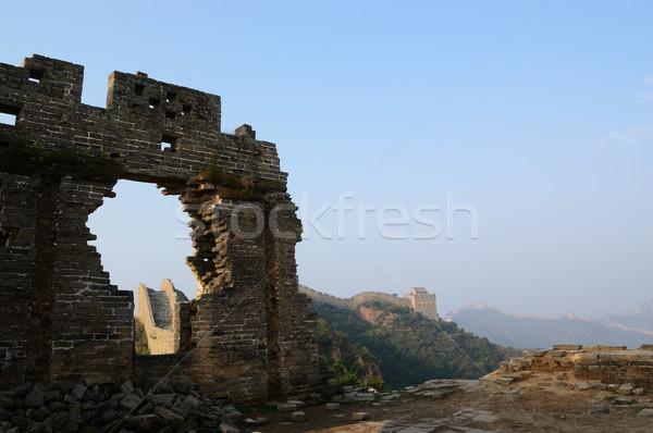Dilapidated China Great Wall Stock photo © raywoo