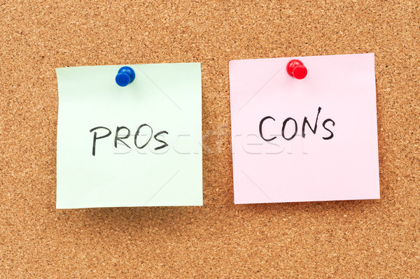 Pros and cons Stock photo © raywoo