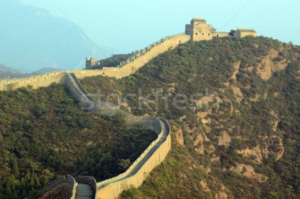 Nagy Fal Kína építkezés fal hegy tégla Stock fotó © raywoo