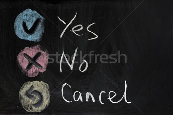 Sì no cross lettera nero Foto d'archivio © raywoo