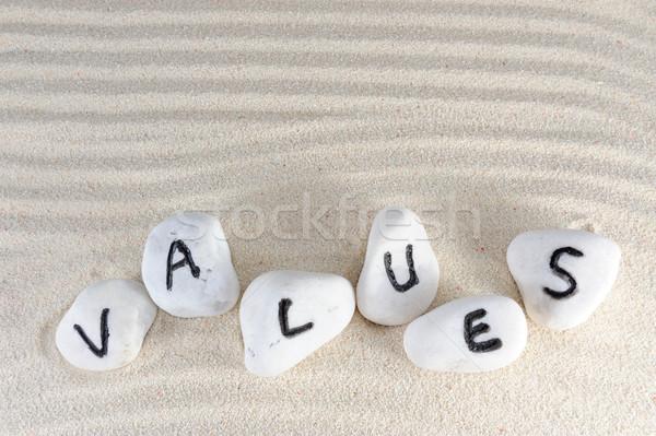 Values word Stock photo © raywoo