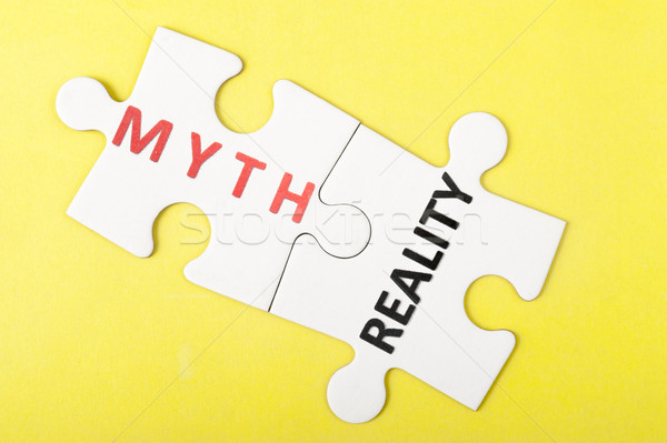 Myth vs reality Stock photo © raywoo