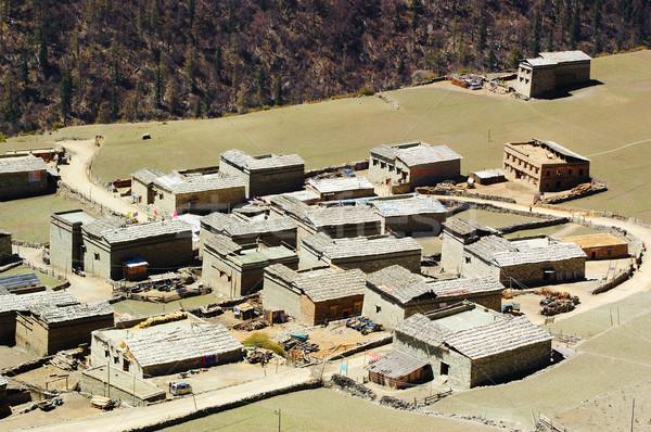 China Tibetan buildings Stock photo © raywoo