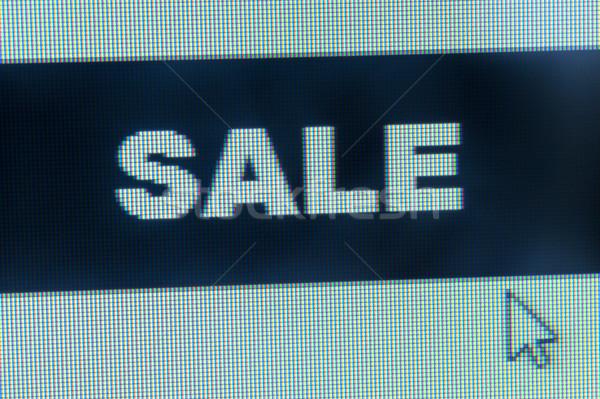 Sprzedaży słowo kursor monitor komputerowy działalności komputera Zdjęcia stock © raywoo