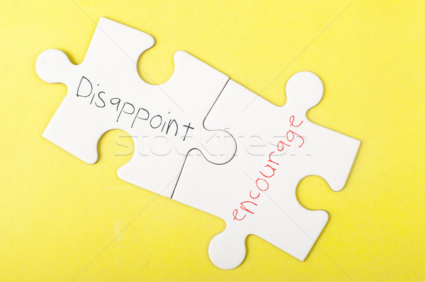 Disappoint and Encourage words Stock photo © raywoo