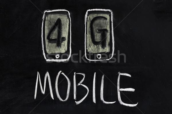 4g móvel comunicação tecnologia escrita Foto stock © raywoo