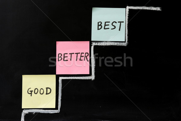 Good, better or best Stock photo © raywoo