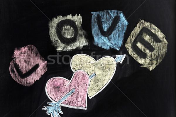 Love, hearts and arrow Stock photo © raywoo