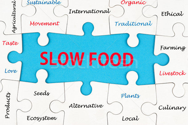 Slow food concept Stock photo © raywoo