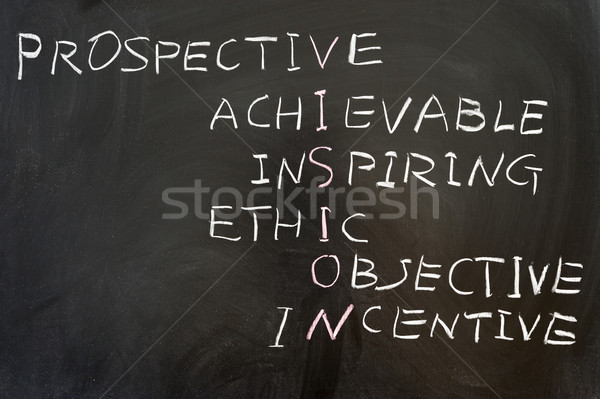 Vision concept crosswords Stock photo © raywoo