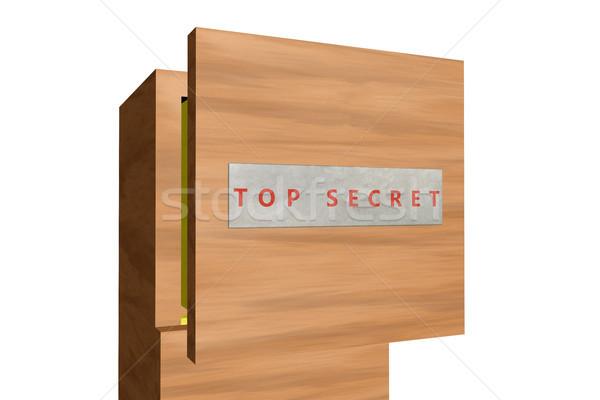 Foto stock: Superior · secreto · 3D · prestados · imagen · cajón