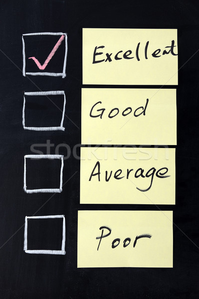 Excellent, good, average or poor Stock photo © raywoo