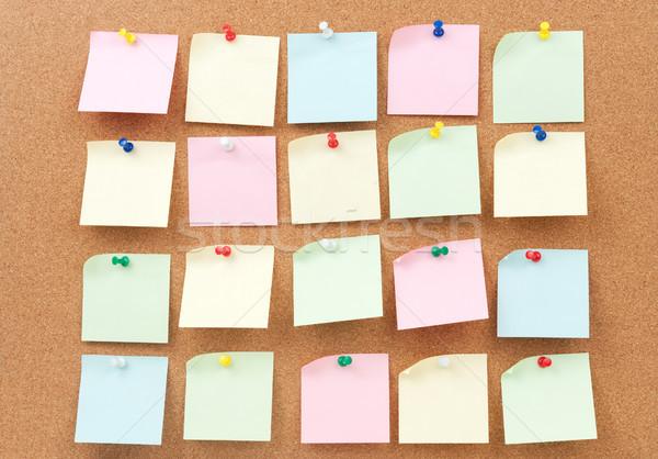 Grupo papel comunicación cartel bordo Foto stock © raywoo