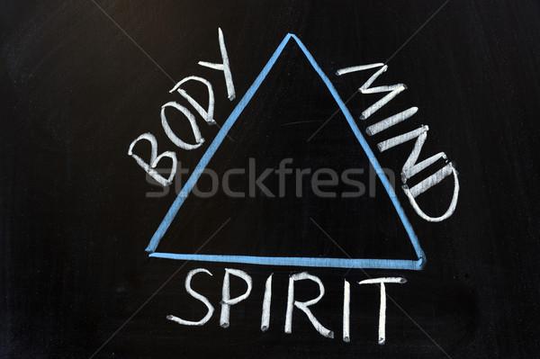 Rapporto corpo mente spirito lettera Foto d'archivio © raywoo