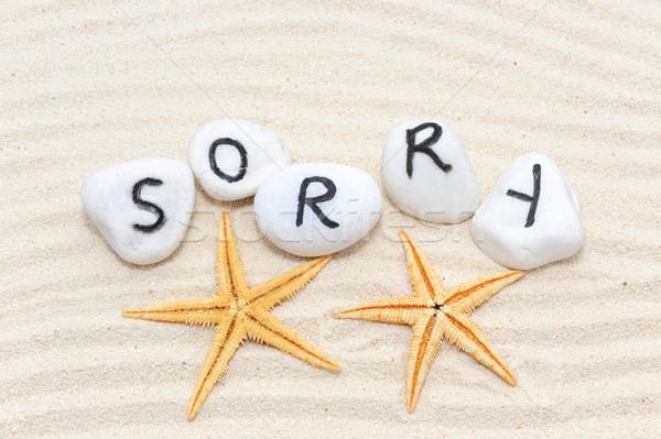 Sorry word Stock photo © raywoo