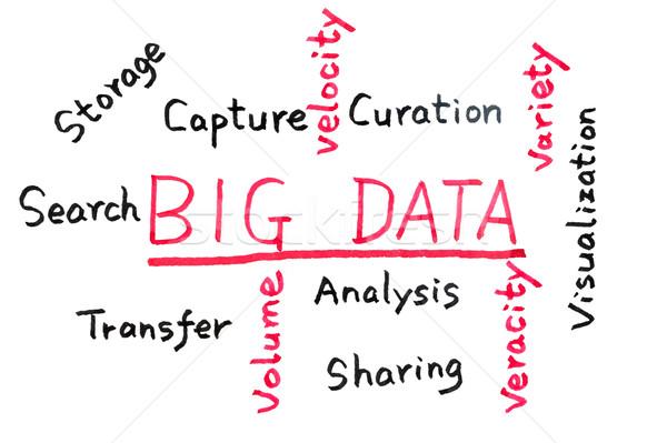 Big data concept Stock photo © raywoo