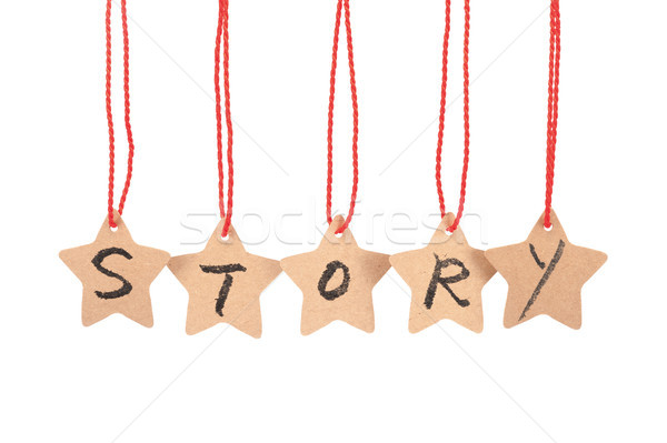 Story word Stock photo © raywoo