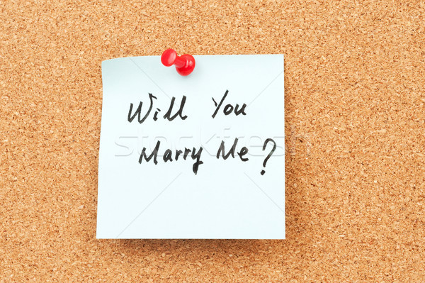 Will you marry me? Stock photo © raywoo
