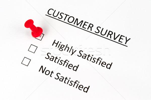Customer survey Stock photo © raywoo