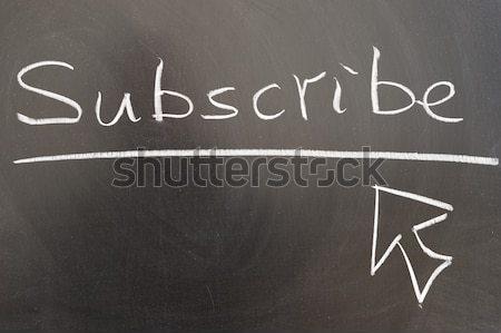Woord muis schoolbord business Stockfoto © raywoo