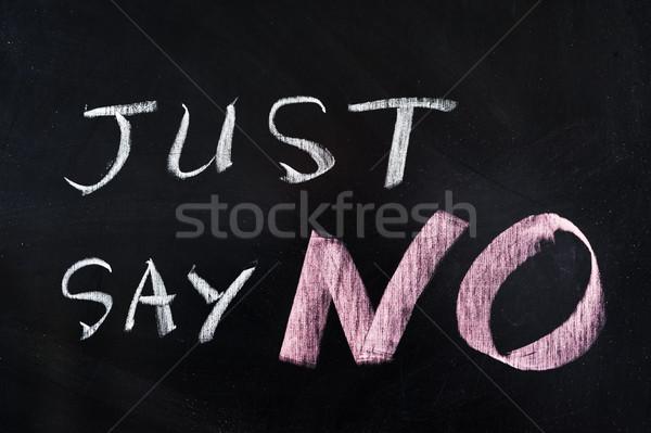 Just say NO Stock photo © raywoo