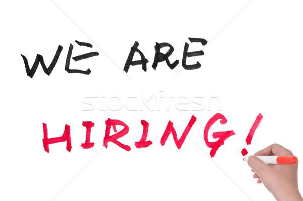 We are hiring Stock photo © raywoo