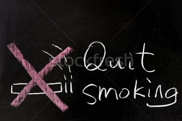 Quit smoking Stock photo © raywoo