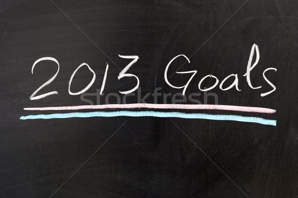 2013 goals Stock photo © raywoo