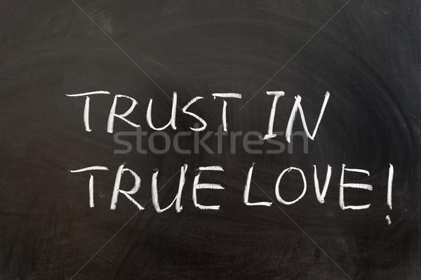 Trust in true love Stock photo © raywoo