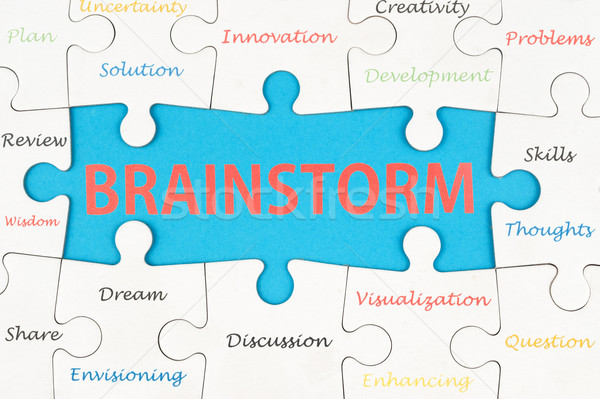 Brainstorm concept Stock photo © raywoo