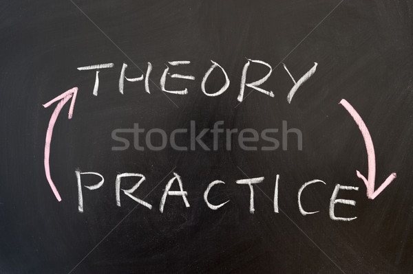 Theory and practice Stock photo © raywoo