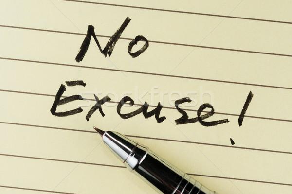 Geen woorden geschreven papier pen kantoor Stockfoto © raywoo
