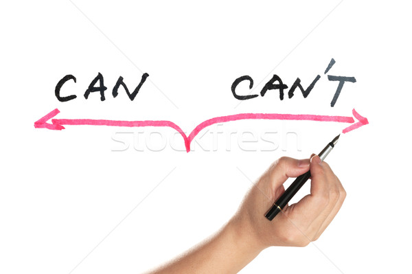 Can or can't concept Stock photo © raywoo