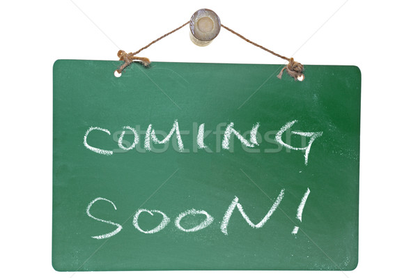 Coming soon words Stock photo © raywoo