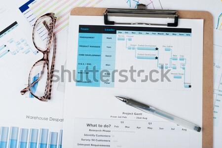 Gantt diagram Stock photo © raywoo