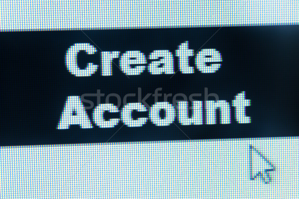 Stock photo: Create account words and cursor
