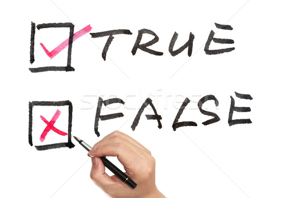 True or false Stock photo © raywoo