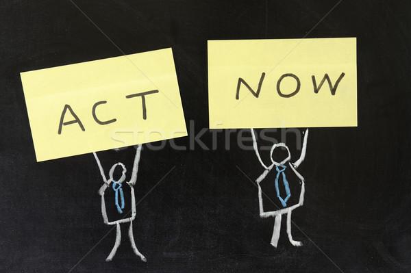 Act now Stock photo © raywoo