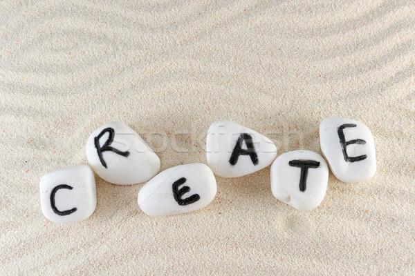 Create word Stock photo © raywoo