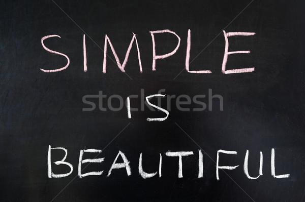 Basit güzel sözler yazılı tahta eğitim Stok fotoğraf © raywoo
