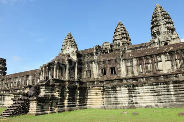 Angkor wat temple in Cambodia Stock photo © raywoo