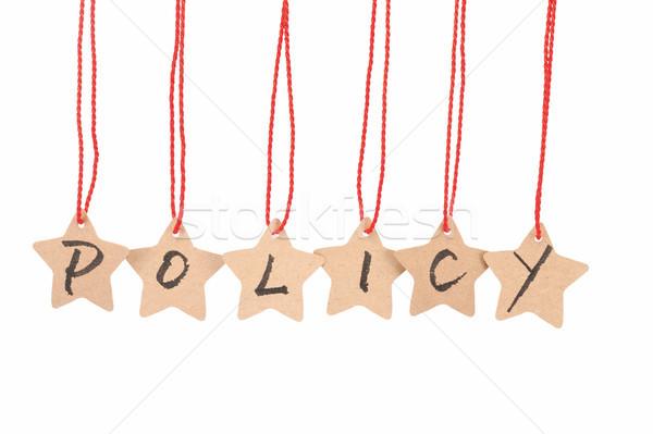 Policy word Stock photo © raywoo