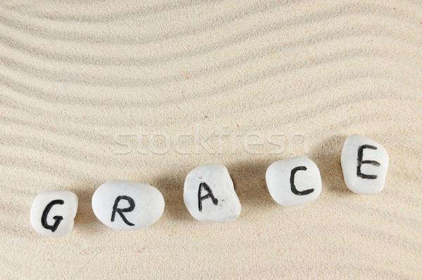 Grace word Stock photo © raywoo
